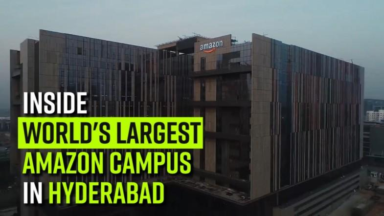 Inside worlds largest Amazon campus in Hyderabad