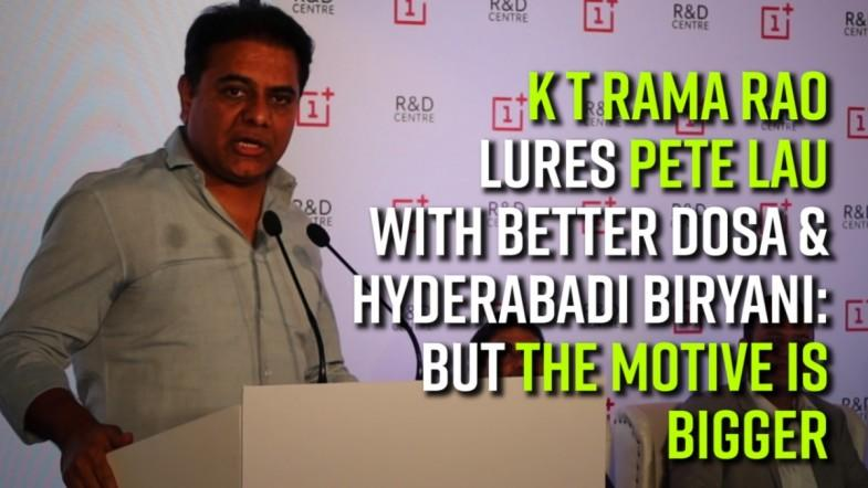 KTR lures Pete Lau with better dosa and Hyderabadi biryani: But the motive is bigger