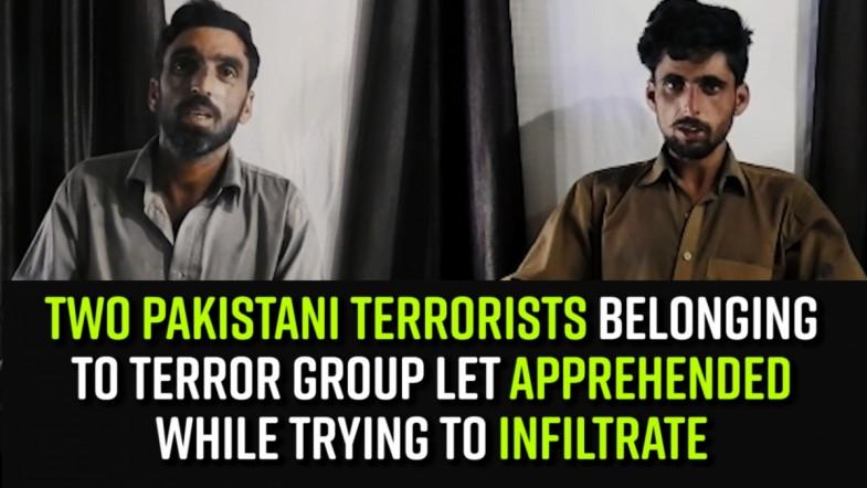 Two Pakistani Terrorists belonging to proscribed terror group LeT apprehended while trying to Infiltrate