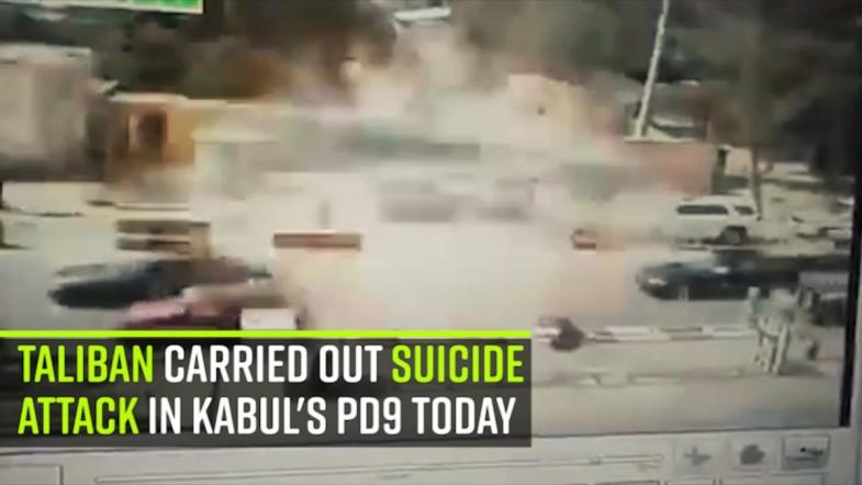 Taliban carried out a suicide attack in Kabuls PD9 today
