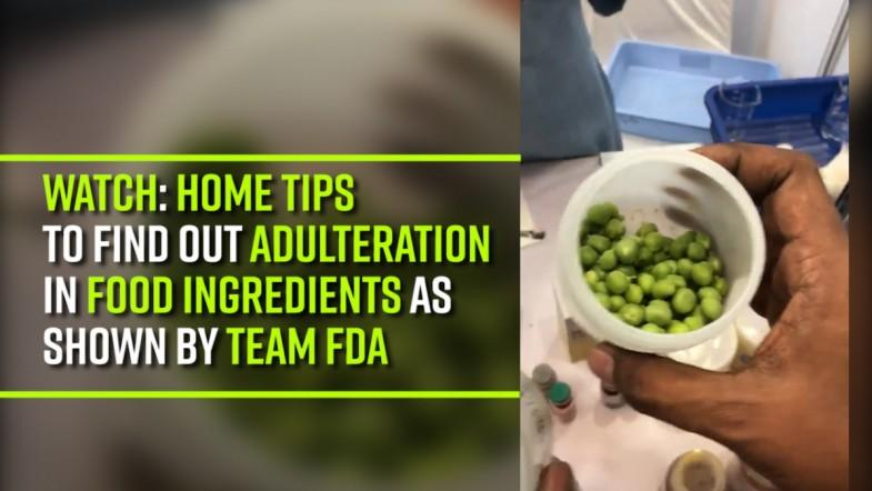 Watch | Home tips to find out adulteration in food ingredients as shown by team FDA