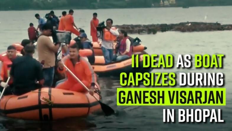 11 dead as boat capsizes during Ganesh Visarjan in Bhopal
