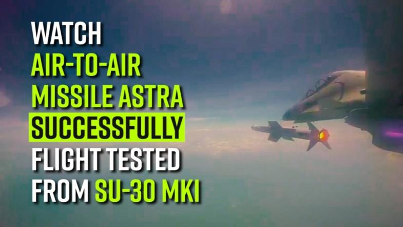 Watch | Air-to-Air missile Astra successfully flight tested from Su-30 MKI