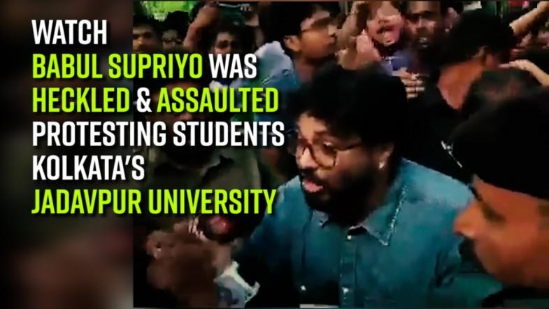 Watch | Babul Supriyo was heckled and assaulted by protesting students in Kolkatas Jadavpur University
