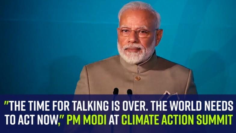 The time for talking is over. The world needs to act now, PM Modi at Climate Action summit
