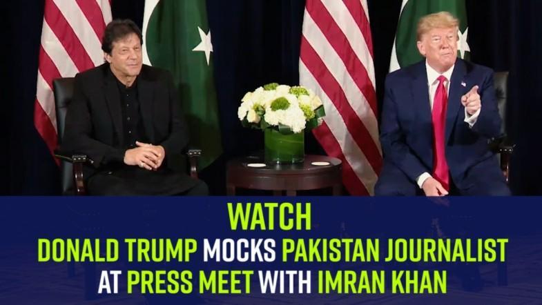 Watch | Donald Trump mocks Pakistan journalist at press meet with Imran Khan