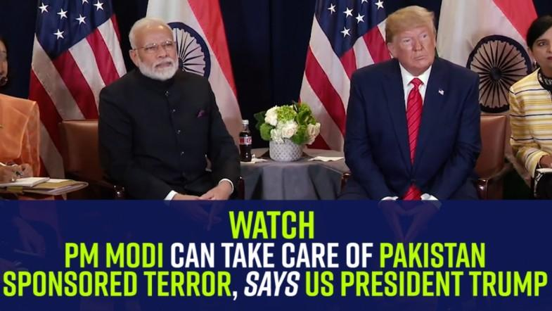 PM Modi can take care of Pakistan-sponsored terror, says US President Trump
