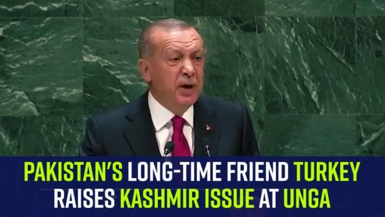 Pakistans long-time friend Turkey raises Kashmir issue at UNGA