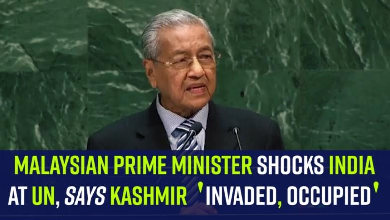 Malaysian PM shocks India at UN, says Kashmir invaded, occupied