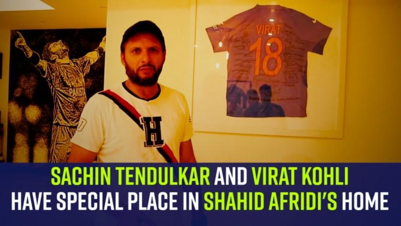 Sachin Tendulkar and Virat Kohli have special place in Shahid Afridis home