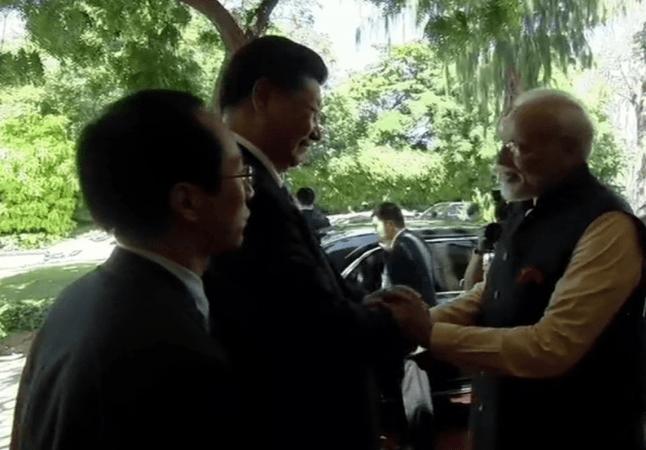 Modi Xi meeting