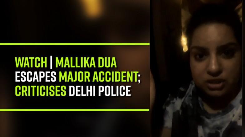 Watch | Mallika Dua escapes major accident; criticises Delhi Police