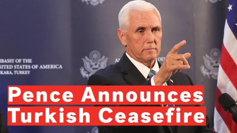 Pence: Turkey Agrees To Ceasefire In Syria Thanks To Strong Leadership Of Donald Trump