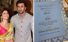 Ranbir Alia wedding invite
