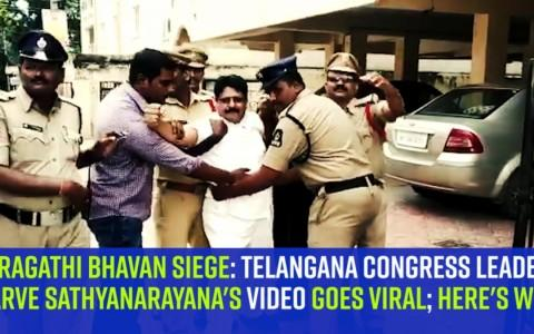 Pragathi Bhavan siege: Telangana Congress leader Sarve Sathyanarayana's video goes viral; here's why