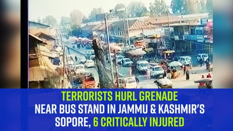 Terrorists hurl grenade near bus stand in Jammu and Kashmirs Sopore, 6 critically injured