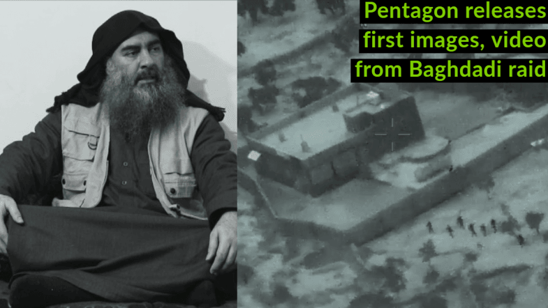 Pentagon releases first images, video from Baghdadi raid