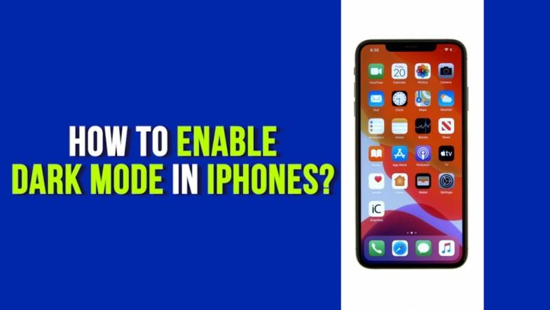 How to enable dark mode in iPhones