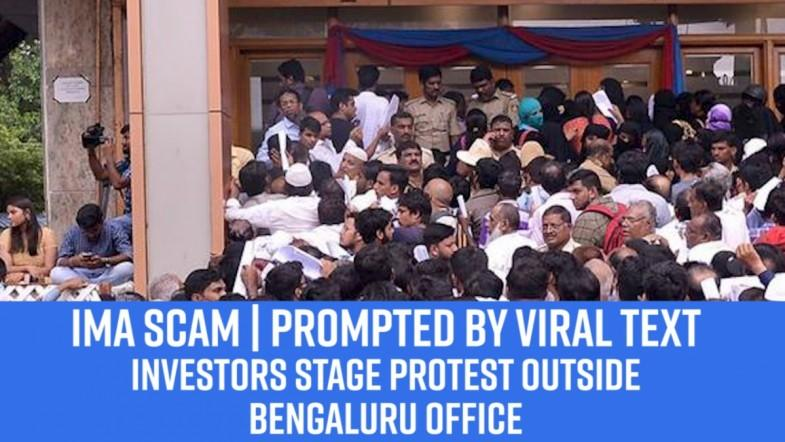 IMA scam | Prompted by viral text, investors stage protest outside Bengaluru office