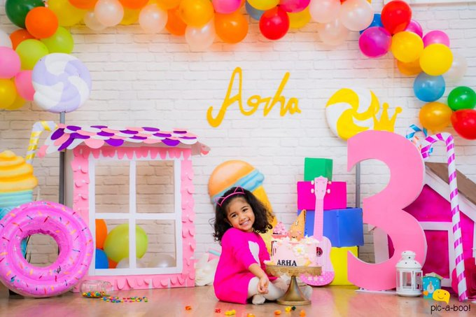 Allu Arjun, Sneha Reddy share daughter Arha's adorable picture after birthday celebration in Dubai