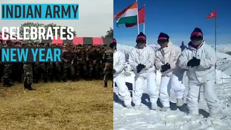 Indian Army Celebrates new year