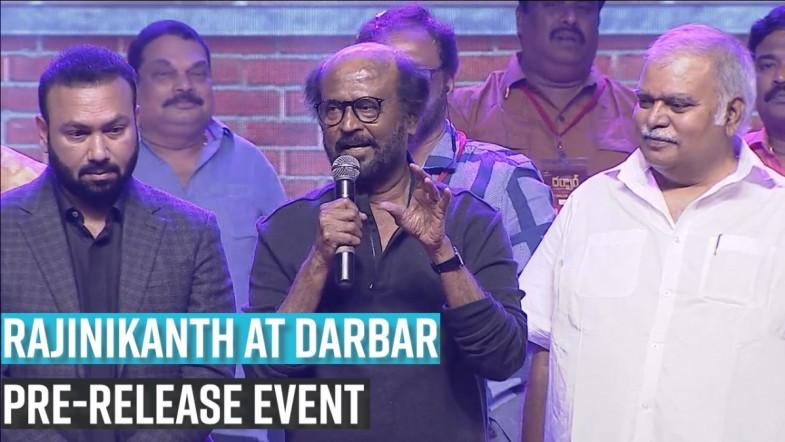 Rajinikanths speech at Darbar pre-release event in Hyderabad