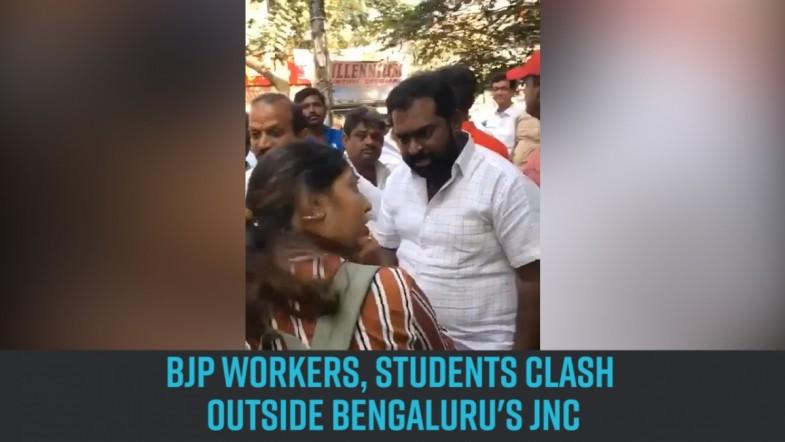 BJP workers, students clash outside Bengalurus JNC