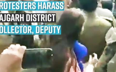 Protesters harass Rajgarh district collector, deputy