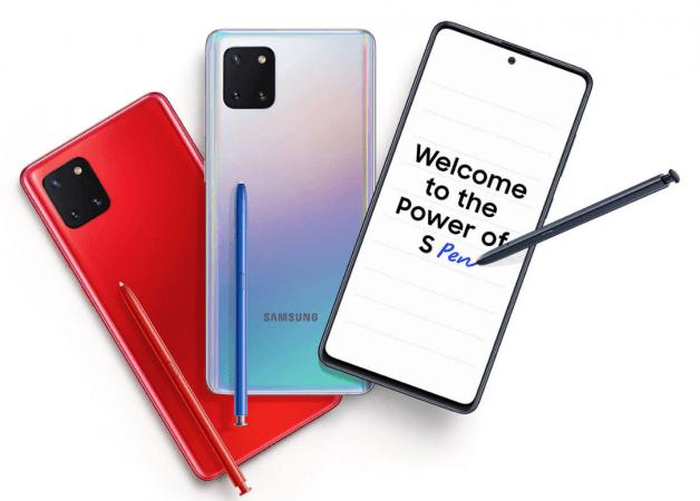 Samsung Galaxy Note 10 Lite Hindistan'da piyasaya sürüldü