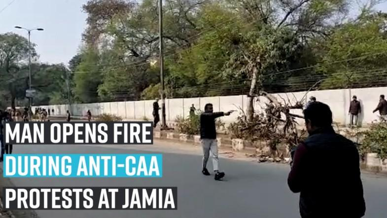 Man opens fire during anti-CAA protests at Jamia