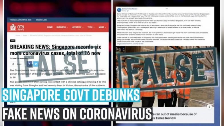 Singapore Govt debunks fake news on coronavirus