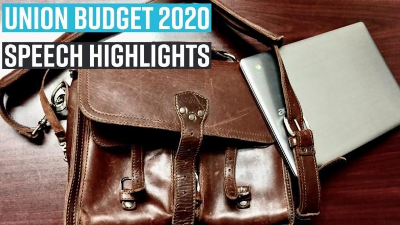 Union Budget 2020: Speech highlights