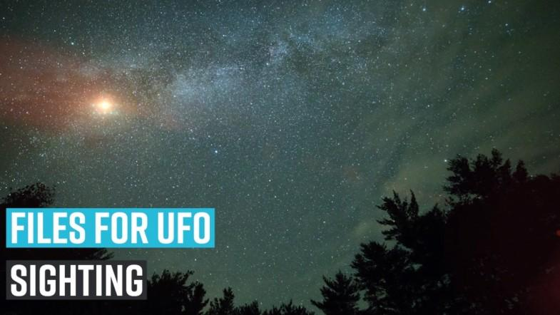 Files for UFO sighting