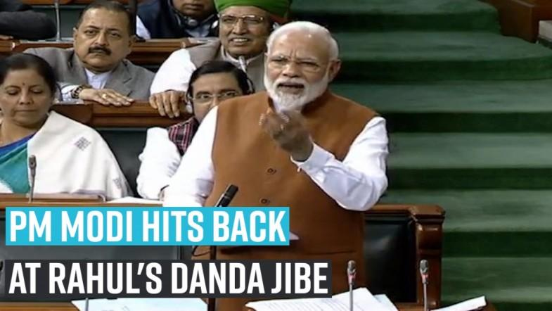 PM Modi hits back at Rahuls danda jibe