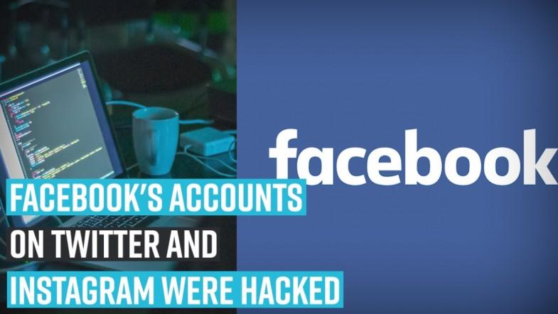 Facebooks accounts on Twitter and Instagram were hacked