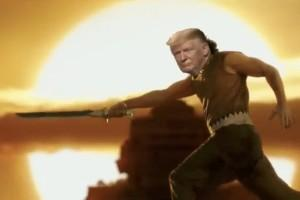 Donald Trump as bahubaali