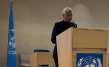 Vikas Swarup, Secretary (West), the Ministry of External Affairs, at UN Human Rights Council meeting