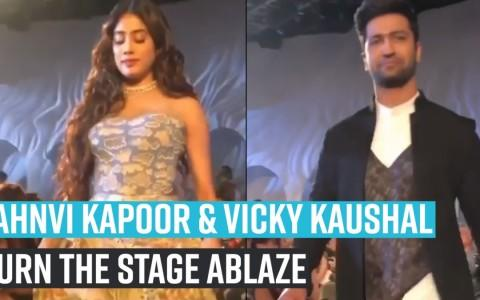 Jahnvi Kapoor & Vicky Kaushal turn the stage ablaze