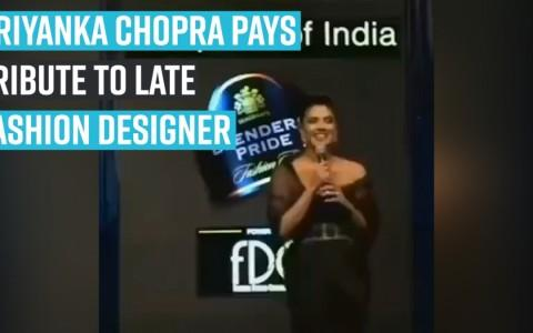 Priyanka Chopra pays tribute to late fashion designer