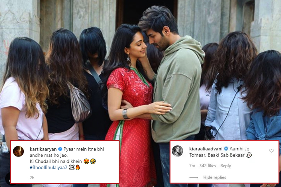 Check out Kiara Advani's hilarious reaction on BTS shared by Kartik Aryan from Bhool Bhulaiyaa 2