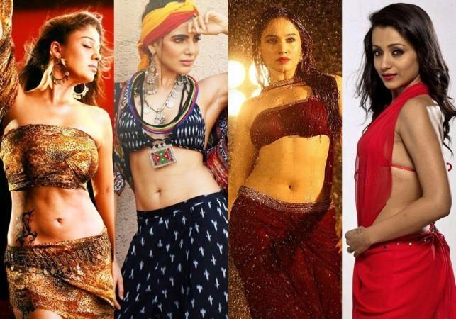 Hot Actresses Nayanthara, Samantha, Tamannaah and Trisha
