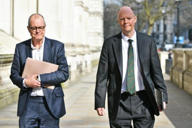 Chief Medical Officer Professor Chris Whitty and Chief Scientific Adviser Patrick Vallance