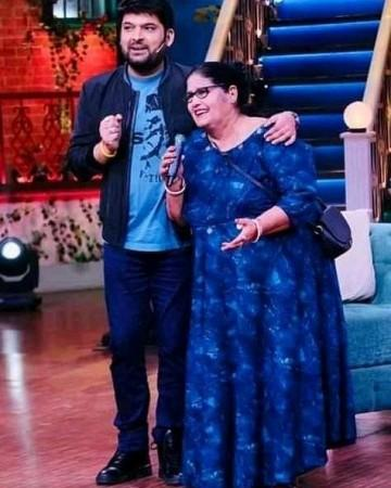 Kapil Sharma with mom