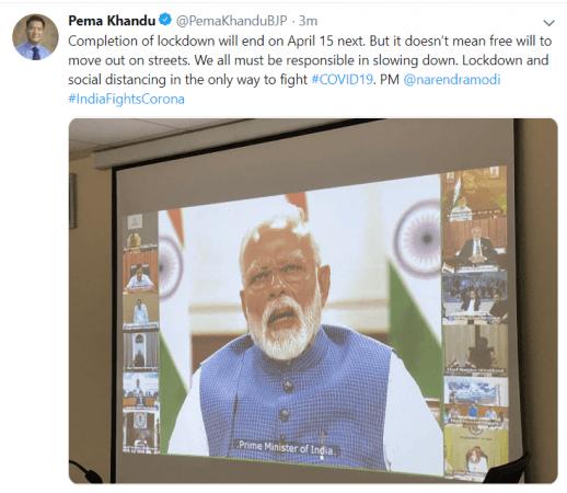 pema khandu tweet