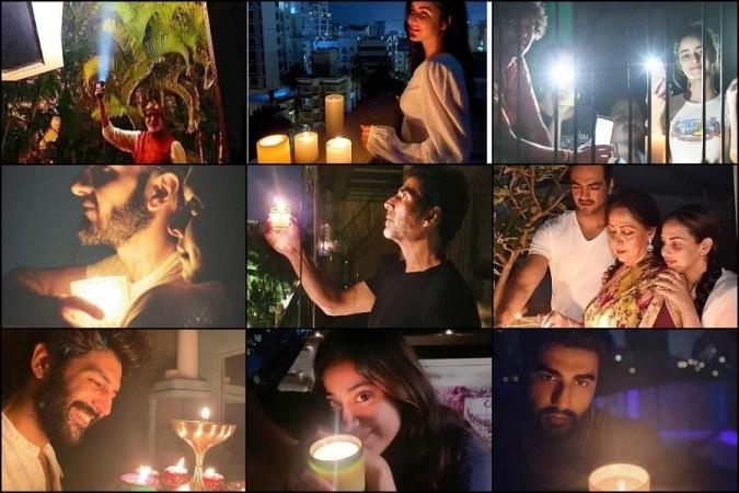 Actors lit the lamp to support PM Modi's initative
