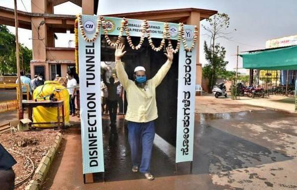 Disinfection tunnel in Karnataka