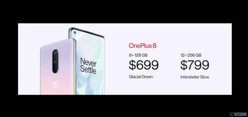OnePlus 8 Series pricing