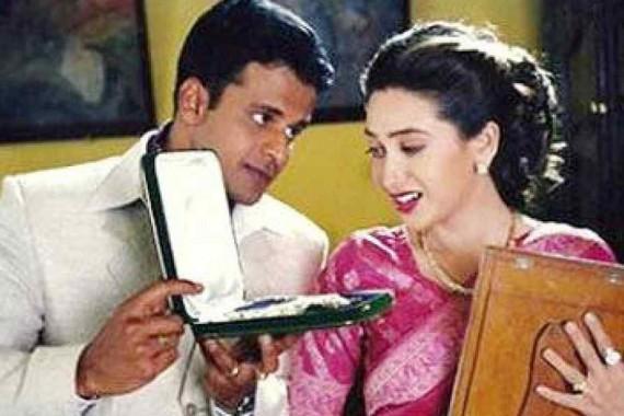 Karisma Kapoor and Manoj