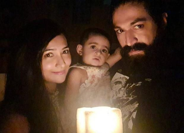 Yash and Radhika Pandit with their Daughter