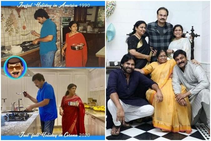 Chiranjeevi with his family members